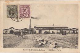 CPA PEROU PERU CHICLAYO Hacienda Pomalca Timbres Stamps 1925 - Pérou