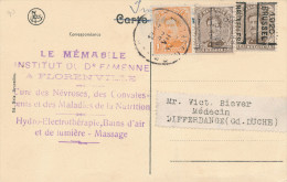 782/22 - Carte-Vue FLORENVILLE - RARE MIXTE TP Petit Albert Et PREOS 1920 Vers GD Luxembourg - Vorfrankiert