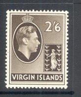 VIRGIN ISLANDS, 1938 2s6d On Chalky Paper Very Fine Light MM, Cat £70 - Britse Maagdeneilanden