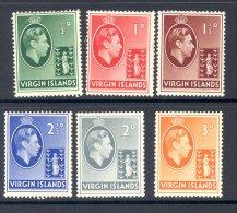 VIRGIN ISLANDS, 1938 ½d To 3d On Chalky Paper Very Fine MM, Cat £29 - Britse Maagdeneilanden