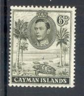 CAYMAN ISLANDS, 1938 6d Brownish Olive (P11½x13) Very Fine MM, SG122b - Kaaiman Eilanden