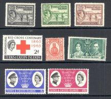 TURKS ISLANDS, 1909-60s, Eight Fine MM Stamps - Turks- En Caicoseilanden