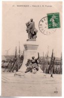 REF 183 CPA 59 DUNKERQUE Statue De J.B. Trystram - Dunkerque