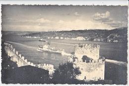 23925 Istambul Rumeli Hisar Hissar Bosphora -  Carte Fotograf Ceraz -istambul -bateau - Turquie
