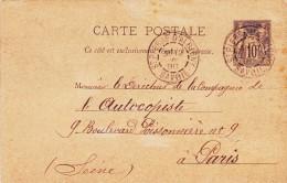 Carte Postal De St. Pierre D´Albigny Savoie A Paris 1890 - 1898-1900 Sage (Type III)