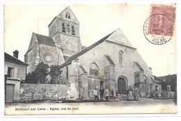 CPA 02 Montreuil Aux Lions Eglise Vue De Face - Other Municipalities