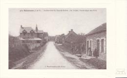 35-BOISTRUDAN-Carte Photo - Arrivée Route De Marcillé-Robert -au 1er Plan, école Laique Des Filles -pas écrite - - France