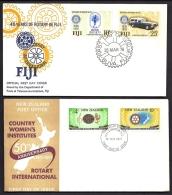 LOT 3 LETTRES ROTARY INTERNATIONAL- ILES : NEW ZEALAND- FIJI- BAHAMAS- CAD DE 1971- 76- 92- 2 SCANS - Rotary, Lions Club