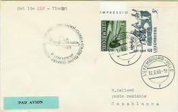 1 Ste KLM Vlucht  AMSTERDAM-CASABLANCA   5.XI.1960 - Luftpost