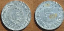 1953 - Yougoslavie - Yugoslavia - 5 DINARA - KM 32 - Jugoslawien