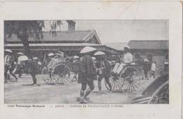 Asie,japon,station De Pousse-pousse à Osaka 1918,métier Du Passé,chapeau Japonais,puissance Industrielle,pays Courageux - Osaka