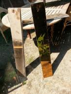 7 miroirs fum�s marron, en tres bon �tat,                              5 plaques epais 5mm,