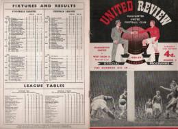 PROGRAMME MATCH MANCHESTER UNITED V  WEST BROMWICH ALBION 1958.59 - Livres