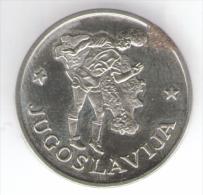 1990 WORLD CUP COPPA DEL MONDO MEDAL / COIN JUGOSLAVIJA - Italia