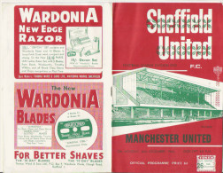 PROGRAMME MATCH SHEFFIELD UNITED V MANCHESTER UNITED 1966 - Livres