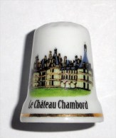 De A Coudre En Porcelaine  Chateau Chambord - Dedales