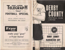 PROGRAMME MATCH DERBY COUNTY V MANCHESTER CITY  1965 - Livres