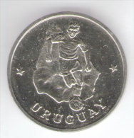 1990 WORLD CUP COPPA DEL MONDO MEDAL / COIN URUGUAY - Italia