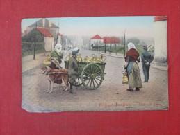 Belgians Dog Milk Cart   Bottom Left Scotch Tape Repair    Ref 1444 - Animaux & Faune