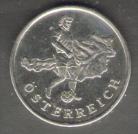 1990 WORLD CUP COPPA DEL MONDO MEDAL / COIN AUSTRIA OSTERREICH - Italia