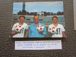 CPM Photo Collection BUT Roger Magnusson-Josip Skoblar M. Leclerc Olympique De Marseille Football OM Football -Foot-Ball - Reproductions