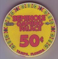 ETATS UNIS - Jeton De Casino Seminole Gaming Palace. Tampa Floride - - Casino
