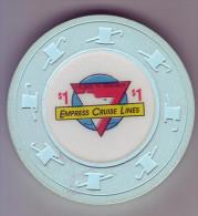 ETATS UNIS - Jeton De Casino Empress Cruise Lines - - Casino