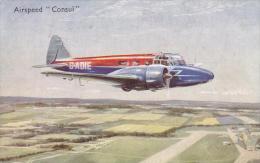 Airspeed Consul Aircraft Postcard (A24846) - 1946-....: Modern Era