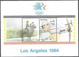 Belgique 1984 COB Bloc Feuillet 60 Neuf ** Cote (2016) 2.25 Euro Jeux Olympiques Los Angeles - Blokken 1962-....