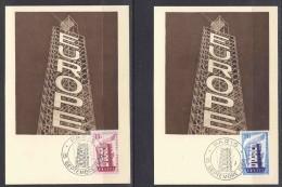 Europa Cept 1956 France 2v 2 Maximum Cards (F1168) - Europa-CEPT