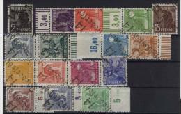 SBZ Handstempel Michel No. 166 - 181 II ** postfrisch / Bezirk 14 Niedersedlitz