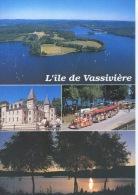 Lac De Vassiviere Multivues Musée Sculptures Chateau Train Pour Pierrefitte N°23/16 Debaisieux - Autres Communes