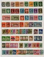 COLLECTION ALGERIE  440 TIMBRES DIFF. 1924/1940 + PA/TAXE/COLIS POSTAUX MAJ. OBLIT. TB FORTE COTE