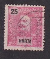 Horta, Scott #20, Used, King Carlos, Issued 1897 - Horta