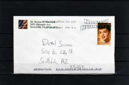 "U.S.A: 2007 Belle Lettre Avec Timbre Actrice ""Judy Garland"" - Acteurs"