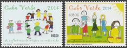 cv14102a Cabo Verde 2014 Children's drawings 2v