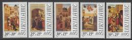 "Suriname  Michel 717/21  XX  ""kunst, art""  cote 6,50 Euro"