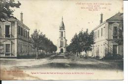 40/ LANDES... Eglise Saint Vincent De Paul Et Groupe Scolaire De MORCENX - Morcenx
