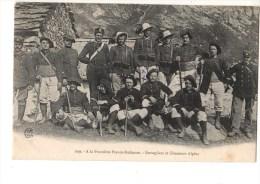 DOUANE---a La Frontière Franco-italienne-bersagliers Et Chasseurs Alpins-----voir 2 Scans - Douane