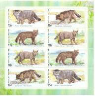 2014. Russia,   Fauna, Wild Cats, Sheetlet, Mint/**