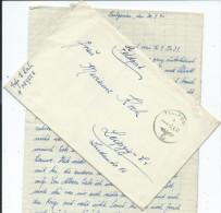Feldpostbrief, Mit Inhalt, Aus Bulgarien, 2.4.41, Kurz Vor Dem Einmarsch In Griechenland - Deutschland