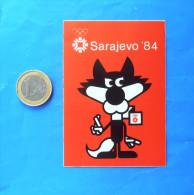 WINTER OLYMPIC GAMES - SARAJEVO 1984. Mascot  ( Bosnia Ex Yugoslavia ) - Vintage Sticker * Jeux Olympiques Autocollant - Kleding, Souvenirs & Andere