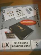 SUPPLEMENT DAVO BELGIQUE 2012 LX 2. - Album & Raccoglitori