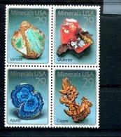 223004671 USA 1992 ** MNH SCOTT 2703a ( 2700 2701 2702 2703 ) Minerals - United States