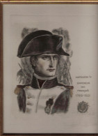 NAPOLEON 1ER EMPEREUR DES FRANCAIS 1769 1821  GRAVURE ORIGINALE DU GRAVEUR DECARIS (SOUS CADRE) - Documentos Históricos