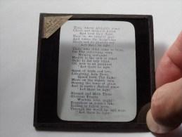Tekst Uit De Bijbel / Bible / B. & F. Bible Soc. London : Plaat +/- 8 X 8 Cm. ( Zie Foto Voor Details ) ! - Glasplaten