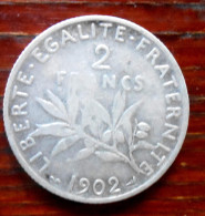 2 FR  1902  piece en Argent