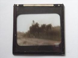 Identify / Identificier ( Ploughing ? U.K. ? Horse ) : Plaat +/- 8 X 8 Cm. ( Zie Foto Voor Details ) ! - Plaques De Verre