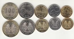 = KAZACHSTAN = New Coin 5 Set 2004-2013 - Kazakhstan
