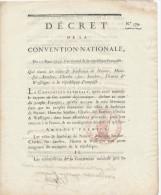 792/22 - FRANCE Décret De La Convention Nationale 1793 - Réunion à La République Française De NAMUR , FLEURUS , HAM , .. - Décrets & Lois